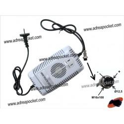 Chargeur 48 Volts 2,5A XLR3F pour trottinette et quad électrique chinois