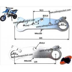Tés de fourche 25mm pocket bike cross - pocket bike supermotard
