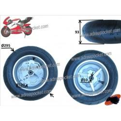 Roue avant complète semi slick 90 / 65 - 6.5 Pocket Bike