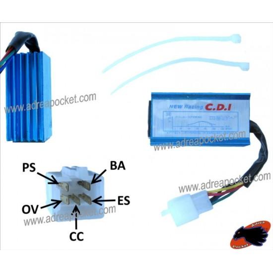 CDI Racing une cosse, Dirt Bike / Pit Bike schéma de câblage