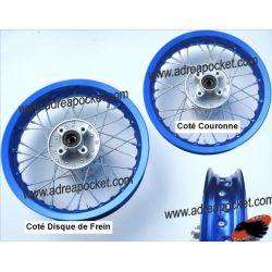 Jante Arrière Aluminium Bleue 12 Pouces Dirt Bike